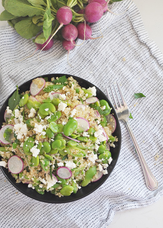 Spring Salad with Fava Beans