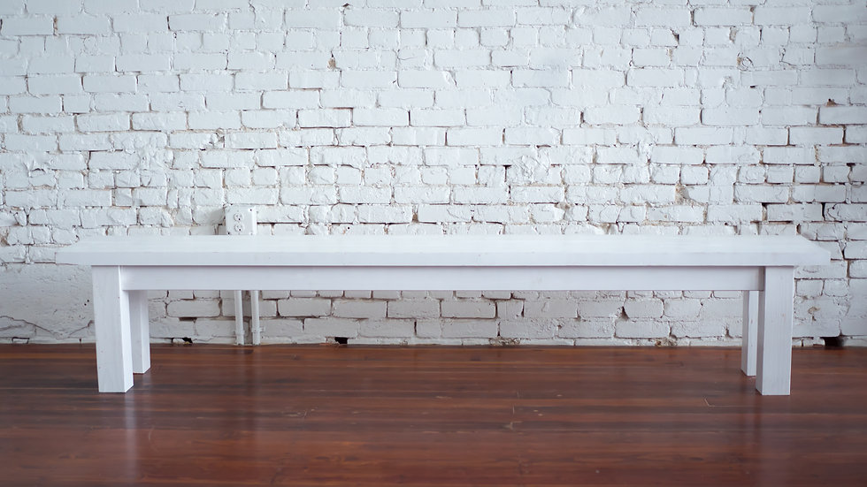 RIDGE FARM BENCH WHITE | Now available at Birch and Brass