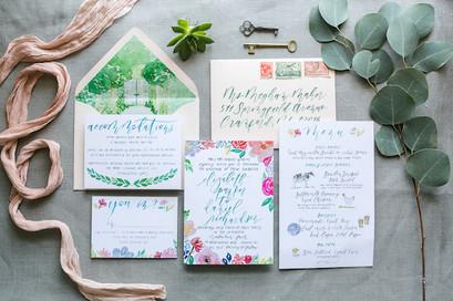 Garden Watercolor Wedding