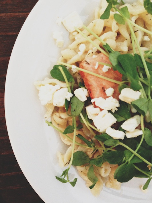 Lemony Pasta with Salmon and Dill | Sacramento Street