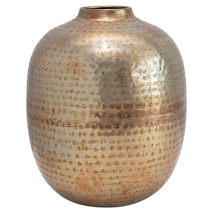 Adelyn Hammered Metal Vase