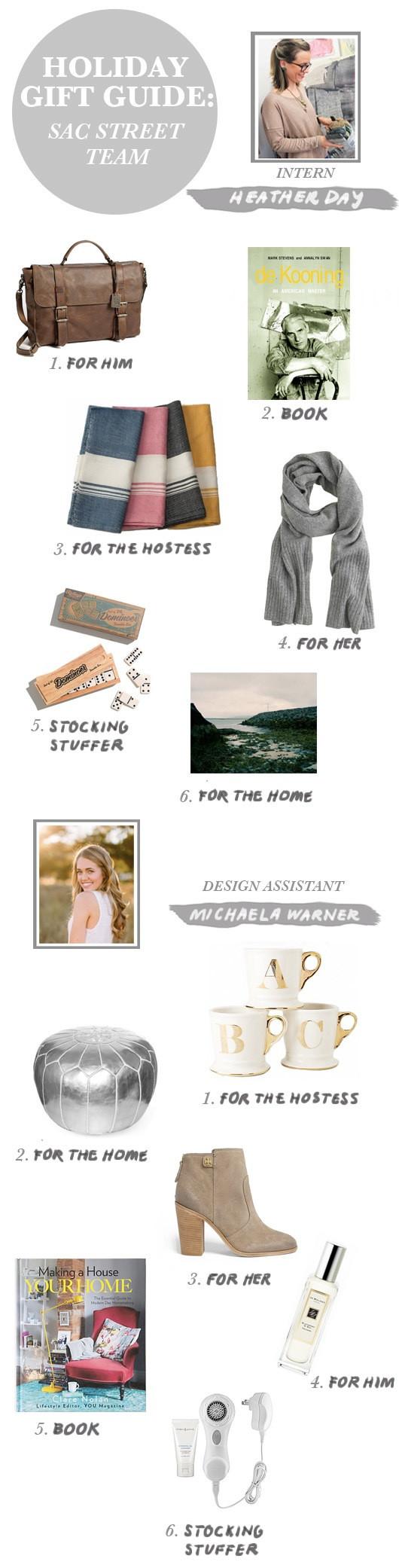 Gift Guide: Sac Street Team (Heather & Michaela)