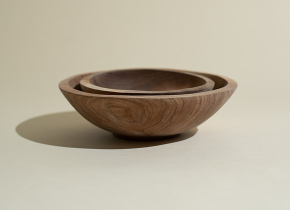 Hand Carved Olive Wood Bowl Set