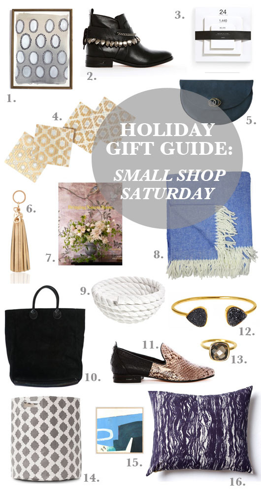 Gift Guide: Small Shop Saturday