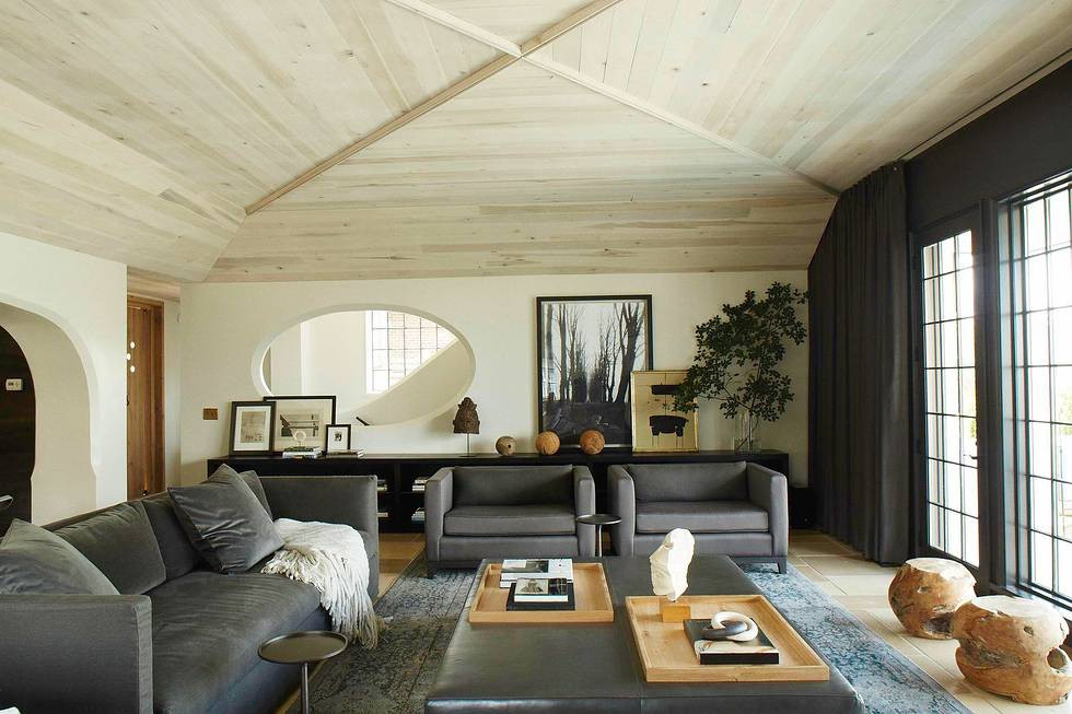 living room upholstery designed by Grant Trick