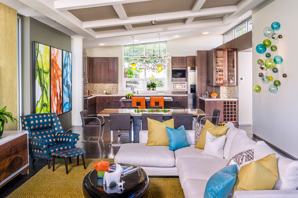 Bright and bold mid-century design by Christopher Kennedy - Palm Springs Interior Design Studio