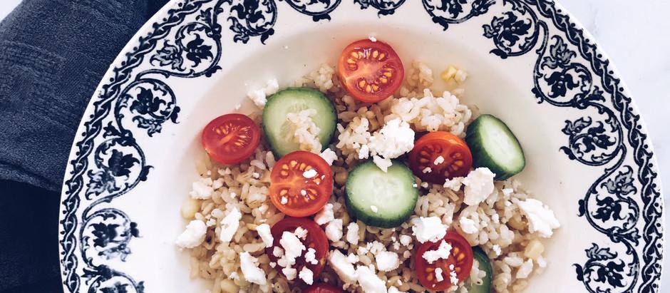 On the Menu: Seasonal Vegetable & Brown Rice Bowl