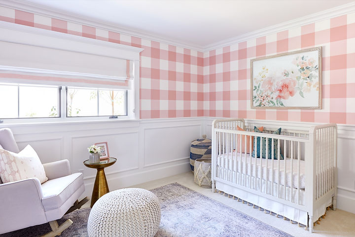 A fun and feminine nursery