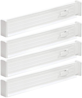 "mDesign Adjustable, Expandable Drawer Organizer/Divider 2.5"" High, 4 Pack"