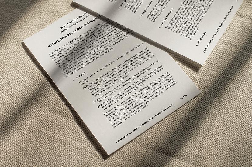 E-Design Service Agreement