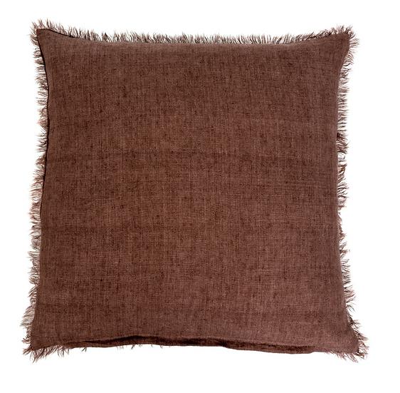 24x24 Linen Pillow, Chocolate