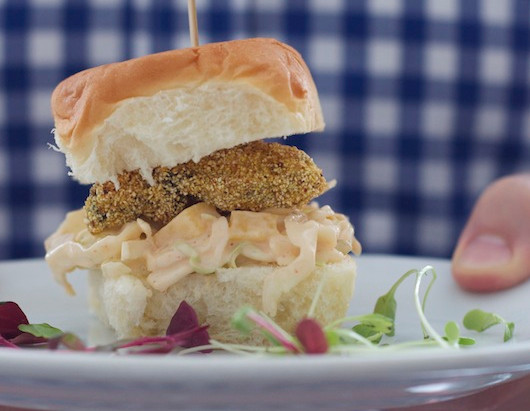On the Menu: Oyster Sliders with Spicy Slaw