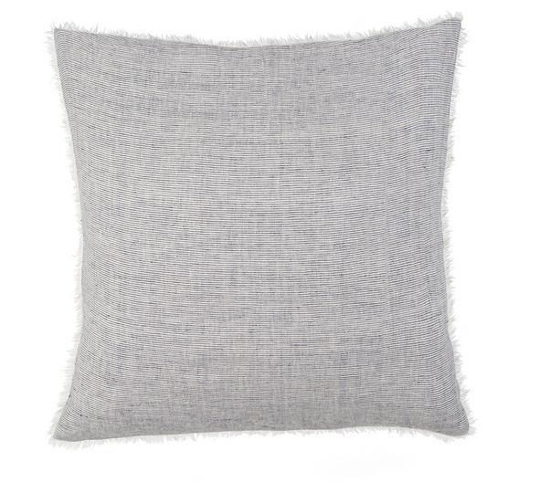 24x24 Linen Pillow, Blue Stripe