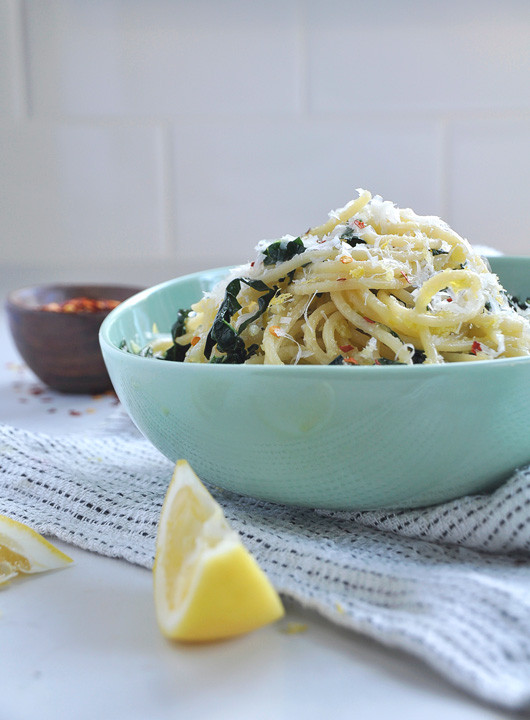 Lemon and Kale Spaghetti | Sacramento Street