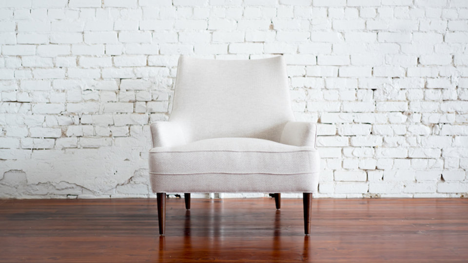 QUINN CHAIR - LINEN | Now available at Birch and Brass