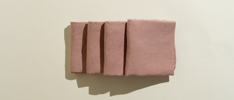 Blush Linen Napkin Set of Four