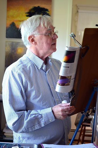 Fr. Paul Plante in his art studio