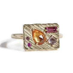 Jewelry_Collage Ring (Medium) -Orange Bo