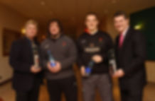 Leading playing and management members of Welsh rugby team earlier in the century