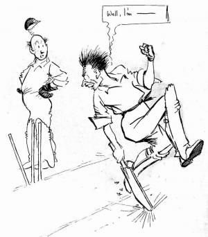 1903 Cartoon from The Cricketer