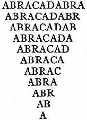 Abracadabra Triangle