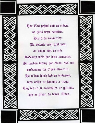 The Lord's Prayer in Breton