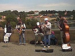 Jazz No prob;em on Charles Bridge, Prague