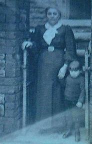 Ann Humphreys (formerly Harries) with stepson Ivor John