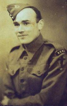 Ivor John Humphreys in WWII REME Uniform
