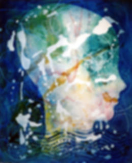 GLASS HEAD, painting by Alan Perry