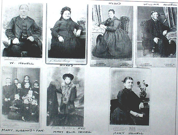 The Howell family. Photographs from late 19c/early 20c