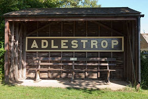 Adelstrop Railway Station Sign