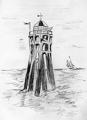 Old Smalls Lighthouse drawn by Suki Humphreys