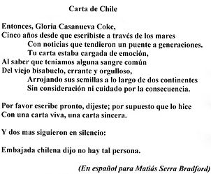 Carta de Chile en Espanol
