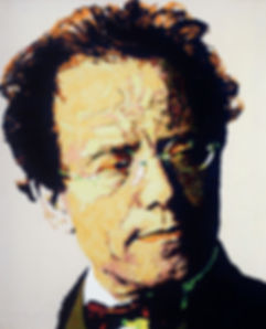 GUSTAV MAHLER. portrait by Jefrey Spedding