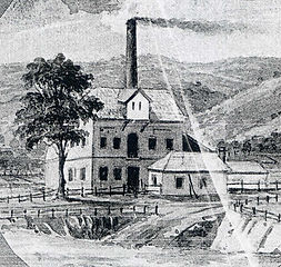 Mill in Norwood, operated during 1850s by James Charles Coke in partnership