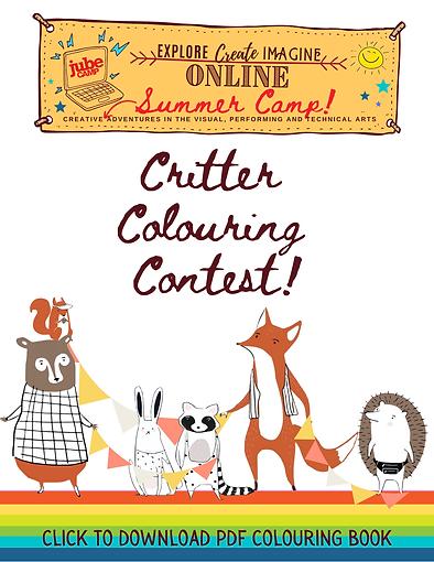 Jube Camp Critter Colouring Contest web
