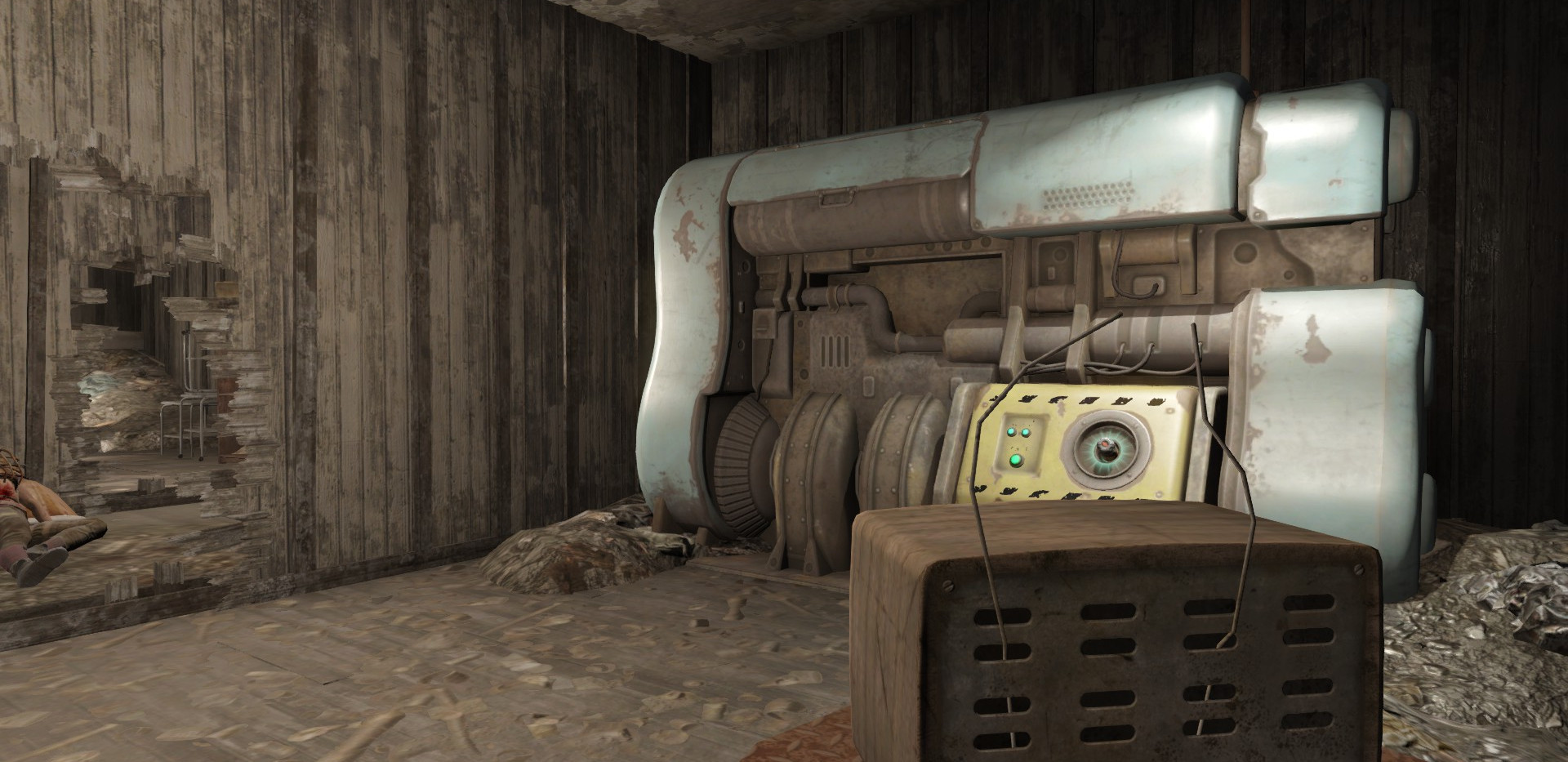 Power generator in raider shack