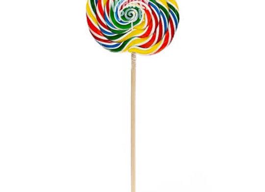 Jumbo Rainbow Whirly Lollipop