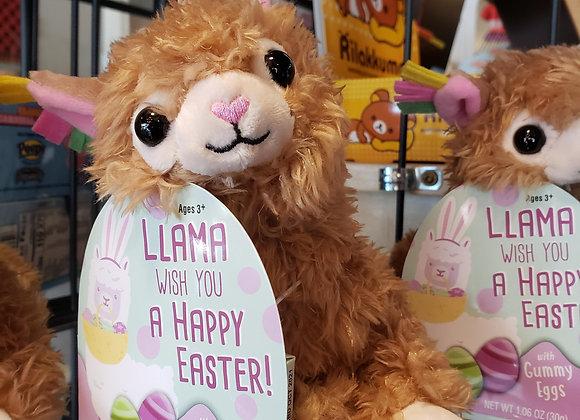 Llama Easter Plush with Gummies