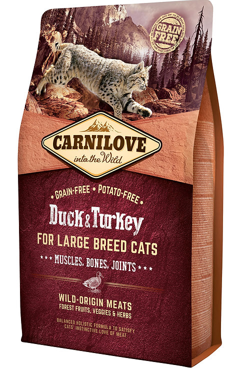 Carnilove Cat Duck & Turkey Large Breed качка з індичкою