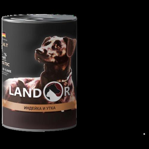 Вологий корм для собак всіх порід індичка з качкою