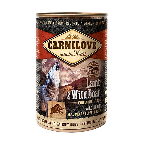Carnilove Dog з ягням і диким кабаном