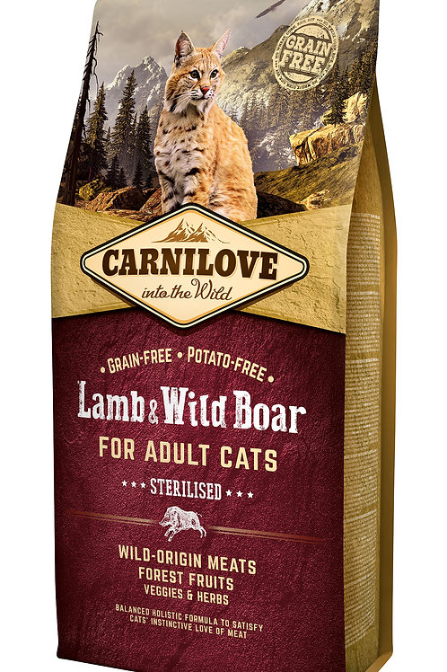 Carnilove Cat Lamb & Wild Boar - Sterilised 6kg