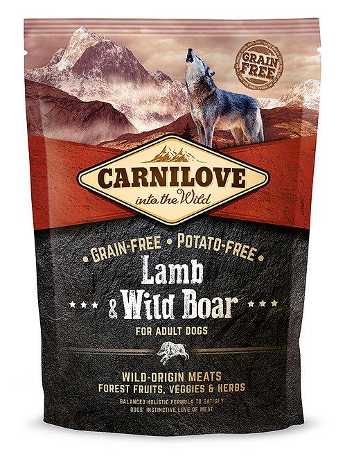 Корм для дорослих собак Carnilove Adult Lamb & Wild Boar ягня з диким кабаном