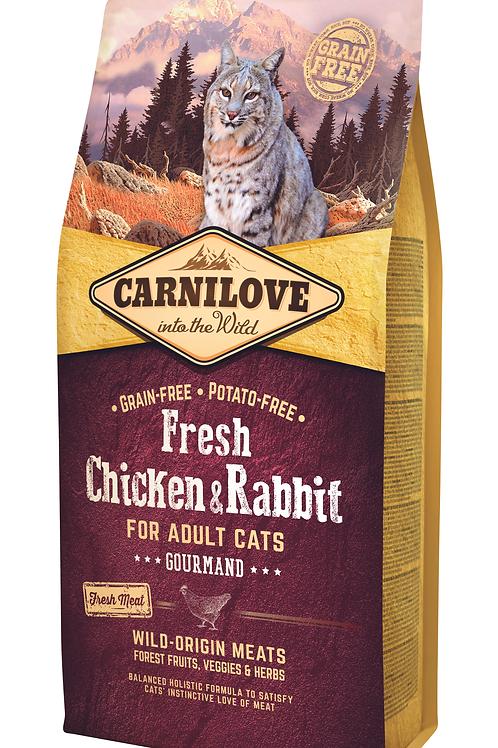 Carnilove Fresh Chicken & Rabbit – Gourmand 6kg