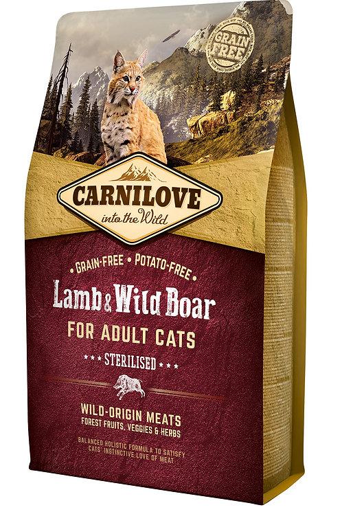 Carnilove Cat Lamb & Wild Boar - Sterilised для стерилізованих котів