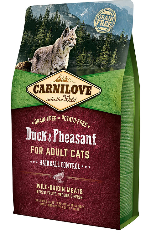 Carnilove Cat Duck & Pheasant - Hairball Controll Качка з фазаном