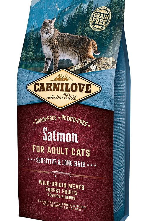 Carnilove Cat Salmon - Sensitive & Long Hair 6kg