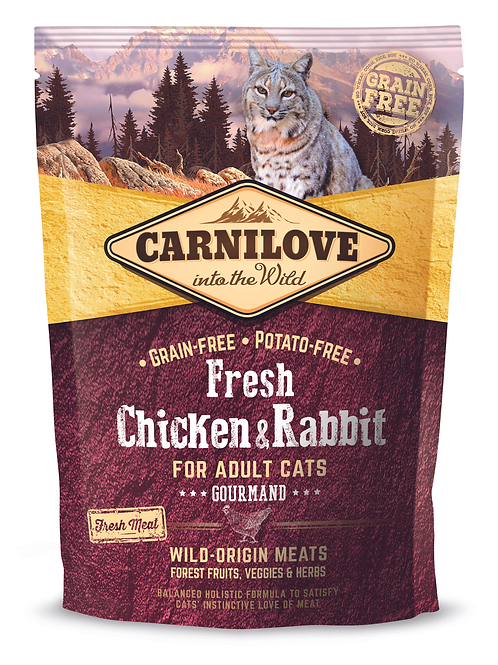 Carnilove Fresh Chicken & Rabbit – Gourmand 400g